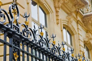 Zaun und noble Fassade in Paris