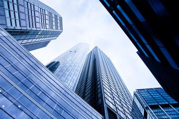 Hochhäuser in Frankfurt - real estate - Bank