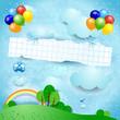 Ballons and banner