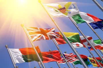 UK and world national flags