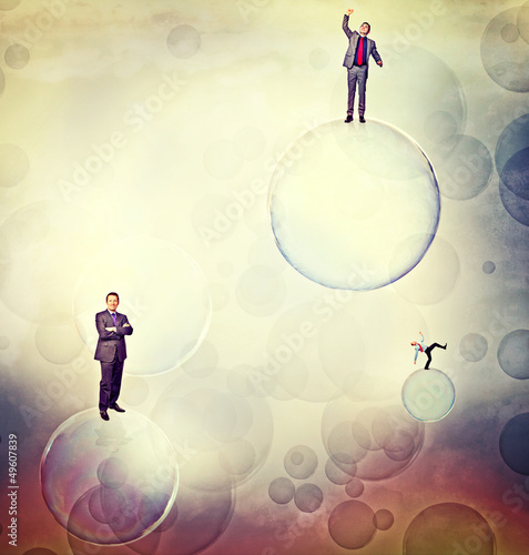 men on bubbles