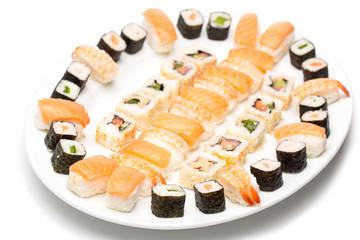 Sushi Platte am Fischbuffet