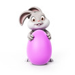 3d rendering of a cute easter bunny
