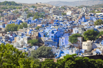 blue city Jodhpur in Rajasthan, India