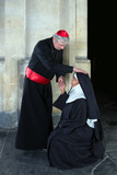 Nun greeting cardinal