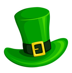 Leprechaun hat. Vector illustration.