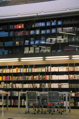 Foto op Canvas Bibliotheek library, bookcase