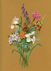 Watercolor Flora Collection: Summers Bouquet
