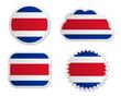 Fahne Costa Rica Sticker