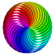 Abstract complex color circle 3D, logo, icon on white background