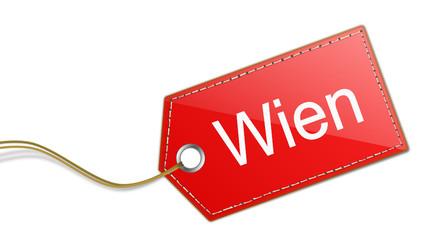 Etikett Schild Wien