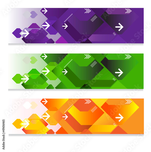Geometric web headers