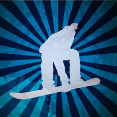 Snowboarding vector