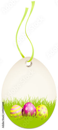 Hangtag Easter Eggs Green/Pink/Yellow