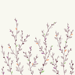 Floral background. Design elements
