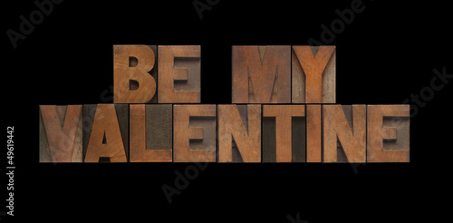 wood type be my valentine