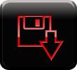 Botón descarga rojo