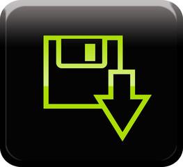 Botón descarga verde