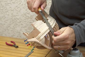 Fabrication d'un modèle réduit de galion