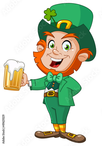 Leprechaun with beer