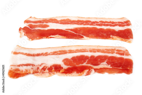 Fresh sliced bacon
