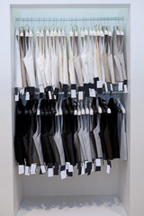 Men's vests on hangers