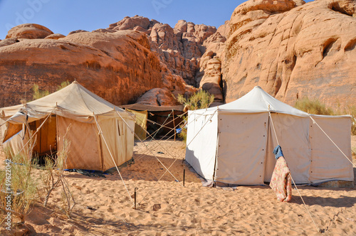 Berber tent in the Wadi Rum desert (Jordan)
