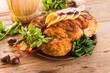 baked turkey with chestnut filling and orange