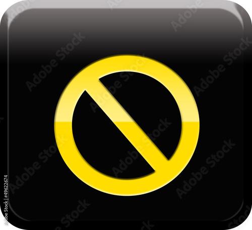 Botón prohibido