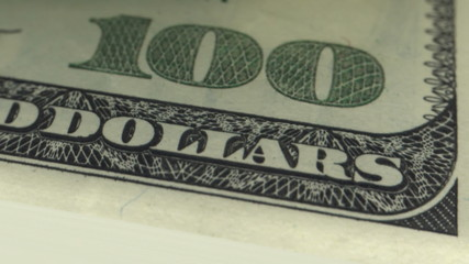 Counting money. 100 dollars bills. Looped. DOF. HD 1080.