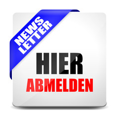 button eckig newsletter hier abmelden I