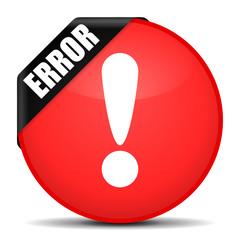 button rund error ausrufezeichen I