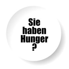 leerer teller sie haben hunger? I