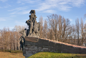Babi Yar Monument in Kiev, Ukraine.