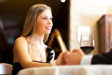 Couple having a date in a luxury restaurant