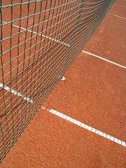 Tennisplatz Linien mit Netz 71