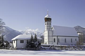 schöne kirche in miesbach