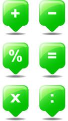 Taschenrechner grün Icon Web