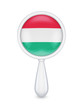 Loupe with hungarian flag.