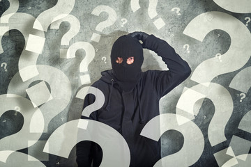 Confused burglar with lot of questions