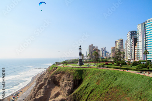 Miraflores Town landscapes in Lima peru - 49627634