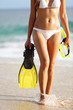 Vacation and beach holidays travel concept woman