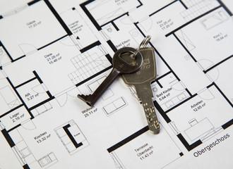 Grundriss mit Schlüssel