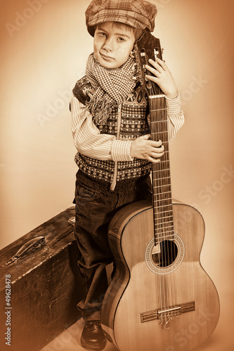 kid and guitar