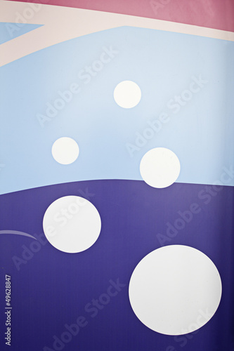 Wall with bubbles
