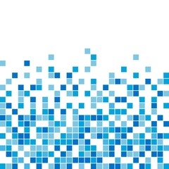 Vector seamless blue mosaic