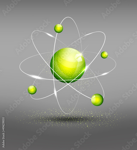vector background with the atom