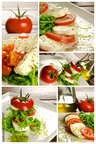Caprese salad composition
