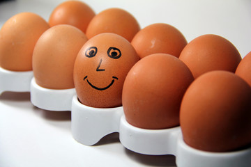 Smile Face On The Egg