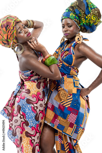 Two young African fashion models.